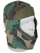 Cold Weather Cap, Army Insulating Helmet Liner Woodland Camouflage Good Cond.