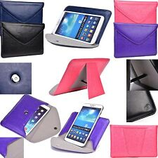 New Easy Travel Leather Envelope with Smart Stand for Micromax Canvas Tab P650
