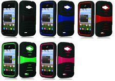 Hybrid Armor Case for Straight Talk ZTE Savvy Z750C / Awe N800 / Reef N810 Phone