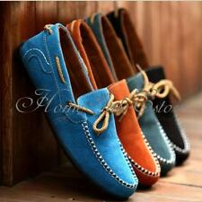 New British Men's Casual Suede Lace Slip On Loafer Shoes Moccasins Driving Shoes