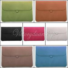"""PU Laptop Leather Envelope Case Carry Sleeve Bag Cover For Macbook Pro Air 13"""""""
