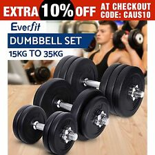 Everfit Dumbbell Set Weight Dumbbells Home Gym Fitness Exercise Adjustable