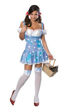 Adult Womens Sexy Dorothy Sparkle Wizard of Oz Halloween Costume Dress NEW