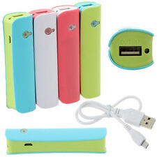2600mAh Power Bank Backup Battery Externe Batterie Chargeur Charger Pr CellPhone
