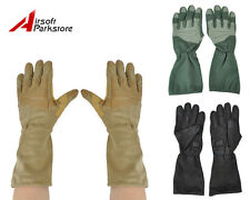 Airsoft Military Tactical Full Finger Gloves with Leather Palm 3 Colors M/L/XL