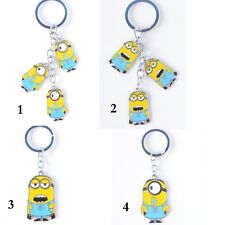 Charm Despicable Me Minion Jorge Stuart Chain Keychain Keyrings 4''  Brand New