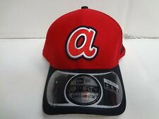 Atlanta Braves Cap New Era 39Thirty Stretch Fit Fitted Hat DE Reverse MLB