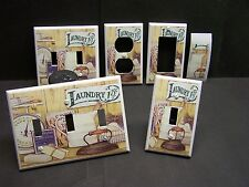 LAUNDRY ROOM VINTAGE FLAT IRON SOAP IMAGE  LIGHT SWITCH COVER PLATE OR OUTLET