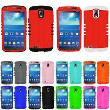 Rugged Stand Hard Cover for Samsung Galaxy S4 Active i9252 Phone Case Hybrid Red