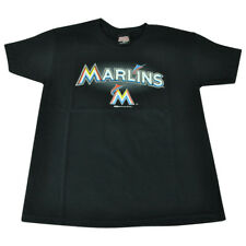 MLB Stitches Florida Miami Marlins Logo Black TShirt Tee Shirt Kid Child