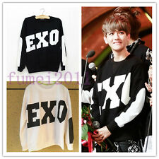 EXO Miracles in December KRIS KAI SUHO DO CHEN BAEKHYUN Black Sweater Kpop New
