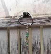 LIME~LIGHT~GREEN~KEY CHAIN~Awareness~SWAROVSKI CRYSTAL~HOPE RIBBON~JEWELRY