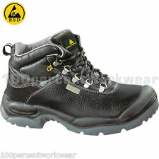 Delta Plus Panoply Sault ESD Mens Safety Work Boots Shoes Steel Toe Cap Leather
