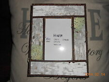 Rustic White Birch Bark Picture Frames up to 16X20