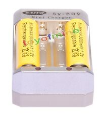 2xAA 3000mAh 1.2V Ni-MH Rechargeable Battery Yellow for RC Toys Camera +Charger