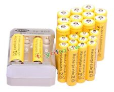 12x AA 3000mAh +12x AAA 1800mAh 1.2V Ni-MH Yellow Rechargeable Battery +Charger