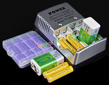 Combo 4 AA + 4 AAA + 2 9V Rechargeable Battery +Charger