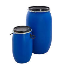 Plastic Oil Drum Storage Bulk Barrel Open Top Container Water Butts NEW 3 SIZES