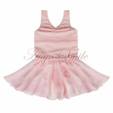 Girls Pink Gymnastics Dance Dress Ballet Tutu Skirt Leotard Skate Costume New