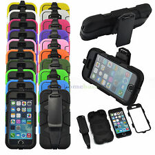 NEW BUILDERS HEAVY DUTY SHOCKPROOF RUGGED HYBRID TOUGH CASE COVER + BELT CLIP