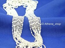 Wholesale 5pcs Sterling Silver Hexagon Chain Necklace
