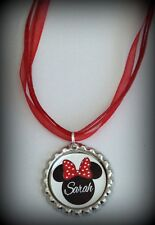 1 Boutique Custom Personalized Minnie Mouse Necklace Party Favors Crown