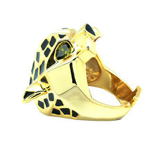 14K Gold Plated Brand Men Women Jewelry Leopard Panther Cocktail Ring RIA001