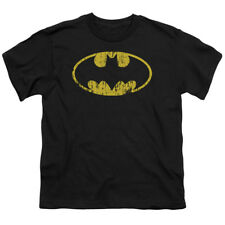 Batman Classic Distressed Logo DC Comics Big Boys T-Shirt Tee