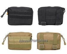 Airsoft Outdoor Tactical Molle Utility EDC Accessory Drop Pouch Bag 3 Colors BK