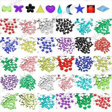 1000pcs New Acrylic Nail Art Flatback Crystal Rhinestones 10 Shapes 2-3.5mm