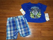 NEW Hurley Shirt Shorts Outfit LOT Baby Boys Size 12 Months