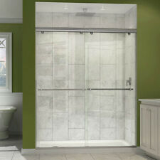 DreamLine Charisma Bypass Sliding Shower Door and 32x60-in Shower Base
