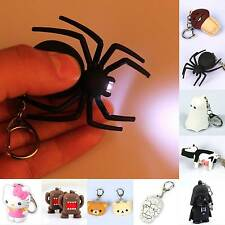 LED Keychains Light With Sound Key Chain Ring Halloween Toy Gift Animal Easter