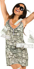 Faux Real Sugar Momma Money Rhinestone Costume Juniors Ladies Dress