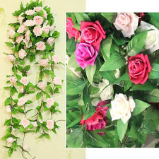 1PC Artificial Ivy Vine Silk Rose Flower Fake Hanging Garland Wedding Home Decor