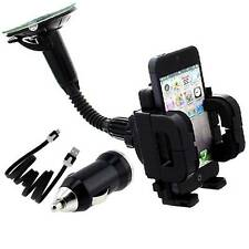 FLY CAR CHARGER-CABLE + WiNDSCREEN DASHMOUNT HOLDER FOR SAMSUNG LTE L300 n more