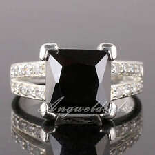 eLuna 9x9 Square Stone Silver Ring Women Fashion Size Selectable Choice