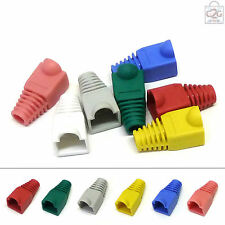 RJ45 Crimp Connector Rubber Boots Network Lan Cable Ends Plugs Strain Relief Cap