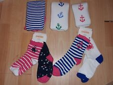 GIRLS GYMBOREE 12-24, 2-3, 3-4, 5-7, 8-10, 10-12 SOCKS, TIGHTS ANCHOR & STRIPES