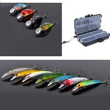 Trulinoya Mini CrankBaits Fishing Lure Hard Bait with Hooks/ Fishing Lure Box