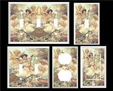 ANGELS CHRUBS PLAYING MUSIC  IMAGE LIGHT SWITCH COVER PLATE