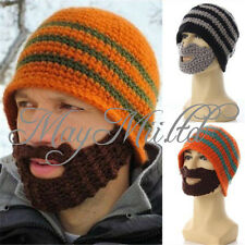 Winter Knit Crochet Beard Beanie Mustache Face Mask Ski Snow Warmer Hat Cap JM