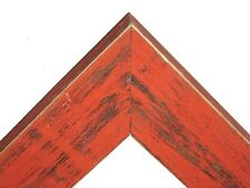 """1.5"""" Country Bourbon Orange Rustic Distress Weathered Wood Picture Frame-Square"""
