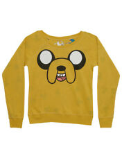Adventure Time Jake Face Grass Time Reversible Juniors Long Sleeve T-Shirt Tee