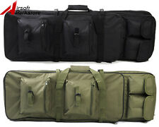 Airsoft Tactical Dual Rifle Bag Case Hand Shoulder Bag Backpack 85cm 2 Colors BK