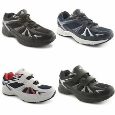 New Mens Casual Velcro Lace Up Gym Walking Running Sports Trainers Sizes UK 7-12