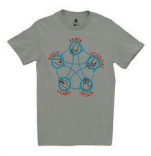 Big Bang Theory Lizard Spock Diagram TV Show Ripple Junction Adult T-Shirt Tee