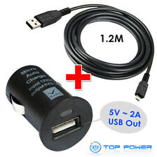 FIT Blackberry BlueAnt Bushnell Creative Coby BT MP3 GPS AC Adapter Car Charger