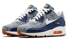 NEW LIMITED NIKE AIR MAX 90 LIBERTY PRINTS QS WOMENS TRAINERS BLUE RECALL WHITE