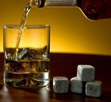 1x--9x Grey Premium Whiskey Stones Rocks Cubes Ice Soapstone Cooler Cold Freeze
